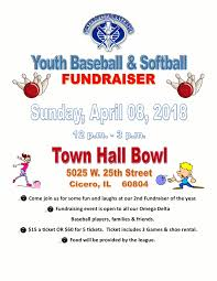 Youth Baseball Softball Fundraiser Noon To 3 P M On Sun