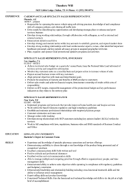 resume specialties examples specialty sales representative resume samples velvet jobs