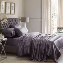 charcoal grey silk bed linen