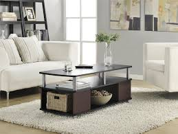 Storage Living Room Furniture Ameriwood Furniture Carson Coffee Table Cherry Black
