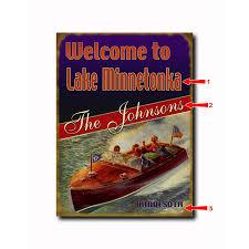 red stripe lake sign