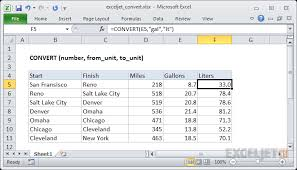 Calorie Conversion Chart How To Use The Excel Convert Function Exceljet