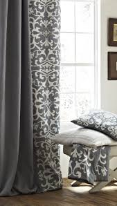 Lili Alessandra Olivia Ash Gray Curtain Panel Set Love the pattern with the  plain color!