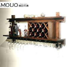wall mounted wine rack modern glass stunning wood regarding plan hung r cabinet ikea mount wine glass rack