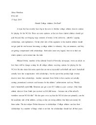 persuasive essay on paying college athletes % original persuasive essay on paying college athletes