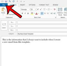 Use Email Template Outlook 2013 How To Create An Outlook Email Template In Outlook 2013