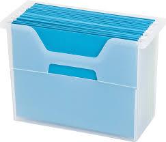 iris um desktop file box clear holds letter size hanging files by iris usa inc com