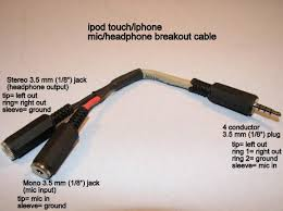 diy an ipod touch iphone microphone and headphone breakout cable breakout