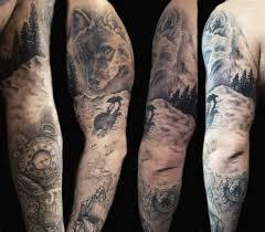 тату рукав для мужчин и девушек фото эскизы и цены в студии тату