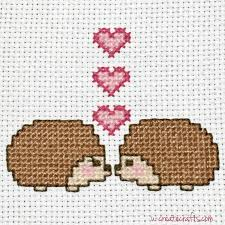 Cross Stitching Patterns Amazing Cross Stitch Pattern Valentine Hedgehogs