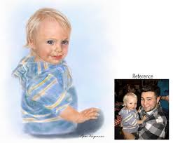 baby s portrait painting