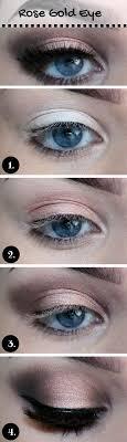 description rose gold makeup tutorial for blue eyes
