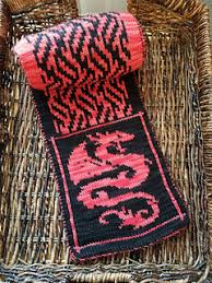 Dragon Knitting Chart Ravelry Dragon Fire Scarf Pattern By Carrie Pinkerton