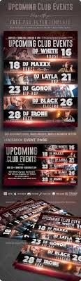 Upcoming Events Flyer Upcoming Club Events Free Flyer Psd Template