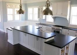 white kitchen cabinets black granite