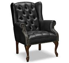 leather accent chairs for living room in black color leather accent chairs for living room