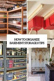 unfinished basement storage ideas