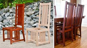 mission style dining chair how to build part 1 arts and crafts style woodworking