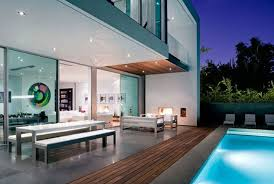 Furniture Modern Pool House Designs Ideas With House Ideas And Brown