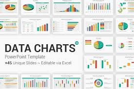 Powerpoint Charts Diagrams Ceo Pack Fully Editable Data Charts Powerpoint Template Yekpix