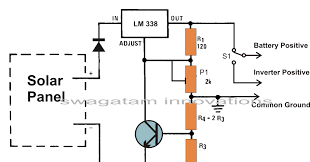 wiring diagram for solar panel regulator wiring build a solar panel voltage regulator charger circuit at home on wiring diagram for solar panel