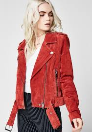 blank nyc red my mind moto jacket