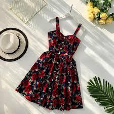 Boho <b>2019</b> Floral Print Vintage Spaghetti Strap <b>Summer</b> Mini Short ...