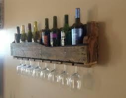 rustic wooden wine racks