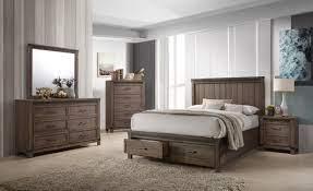 Rossco 6 Piece Queen Bedroom Set Rustic Oak Leon S