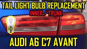 Audi Rear Light Bulb Audi A6 C7 Avant Tail Light Rear Bulbs Replacement Inner Trunk