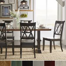 Eleanor Black Farmhouse Trestle Base X Back 5-piece Dining Set by iNSPIRE Q