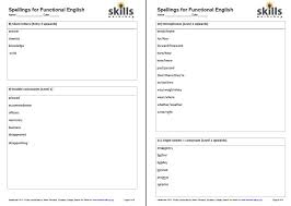 Functional Words List Spellings For E3 L2 Functional English Skills Workshop