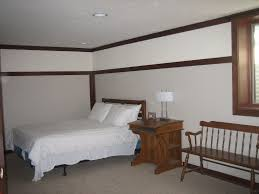 Bedroom:Delightful Basement Bedroom Ideas With Brown Ceramic Flooring Also  Floral Pattern Chest Drawers Splendid