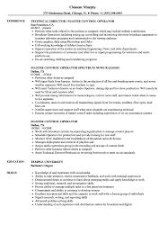 Camera Operator Resume Sample Master Control Operator Resume Samples Velvet Jobs 11