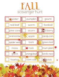 Fall Scavenger Hunt Ideas | Free Printable Included