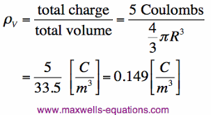 density example. electric charge example density g