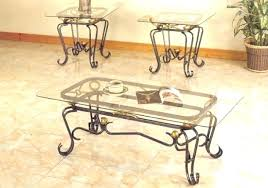 wrought iron coffee table with marble top wooden wrought iron side table uk coffee with glass