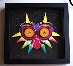 zelda wall art awesome legend zelda majora s mask multimedia shadowbox scheme legend of zelda wall
