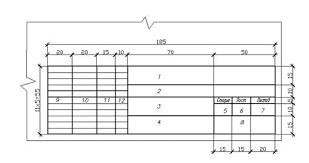 Методические указания к выполнению курсовой работы архитектурно  ГОСТ Р21 1101 92 СПДС устанавливает единые формы размеры и порядок заполнения основных надписей на чертежах студенческих курсовых работ и дипломных