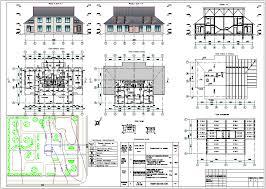 Курсовые и Дипломные проекты коттеджей Чертежи и проекты  Курсовой проект по архитектуре на тему Двухквартирный жилой дом