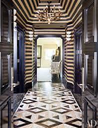 wearstler devised a striking composition of triangular shapes for a hallway floor in a bel air california home