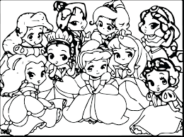 coloring pages of baby disney characters free