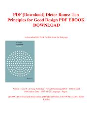 Dieter Rams Ten Principles For Good Design Book Pdf Pdf Download Dieter Rams Ten Principles For Good Design