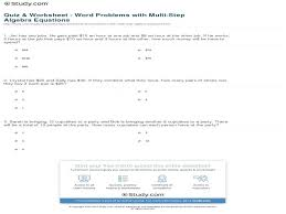 Free Worksheets For Linear Equations (Grades 6-9, Pre-Algebra ...