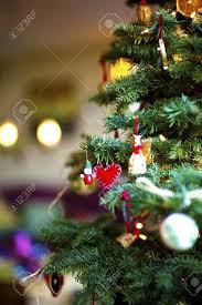 Christmas Tree Closeup Vertical Christmas Tree Decoration Closeup