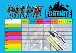 Fortnite Charts Fortnite Behaviour Reward Chart Re Usable Chart Pen