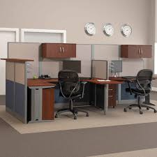 office desk workstations. bush officeinanhour melamine ushaped double workstation computer desk with reception hayneedle office workstations v