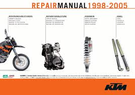 official 1998 2005 ktm 400 660 lc4 manuals cyclepedia get access to ktm lc4 400 620 625 640 660 manuals now