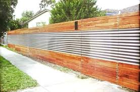 cool fence ideas how to build a corrugated metal brick fascinating diy corrugated steel fence metal