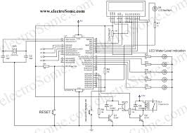 water level indicator controller using pic microcontroller circuit diagram water level indicator controller using pic microcontroller